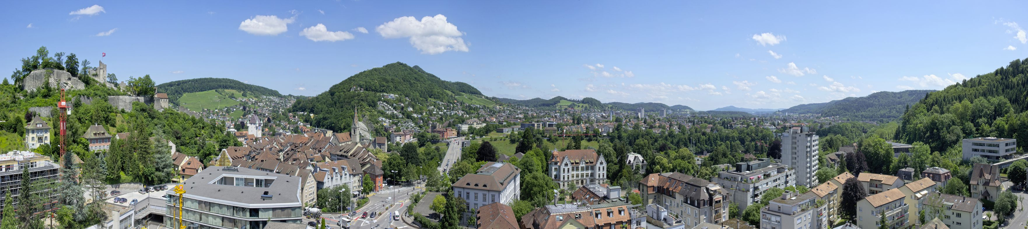 Panorama of the city Baden