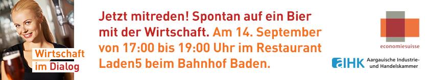 Veranstaltung der economiesuisse im Laden5 in Baden