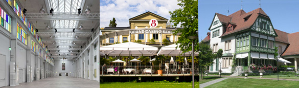 Tagungsräume mit Charakter in der Stadt Baden - Neue Trafohalle, Grand Casino Baden und Villa Langmatt