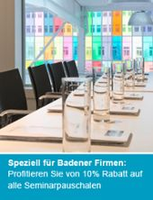 Trafo Hallen: Seminarpauschale zum Spezialpreis - ein Angebot für Badener Firmen Stadt Baden; Seminarraum