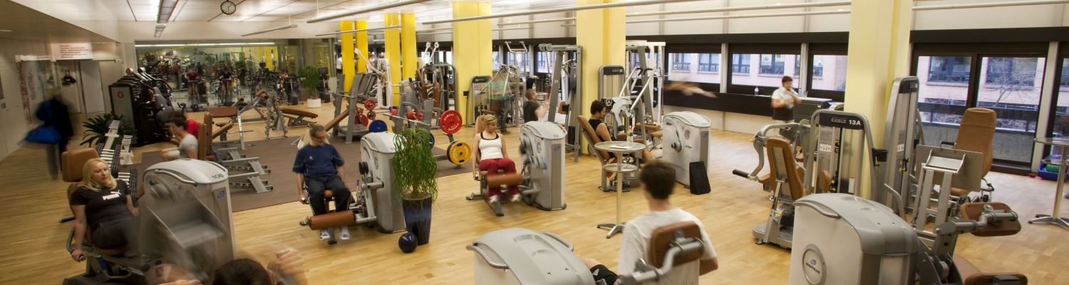 Training room of a fitness center in Baden
