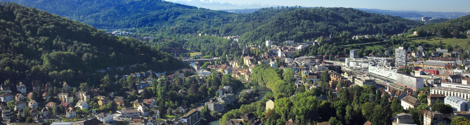 View on Baden and the surrounding region