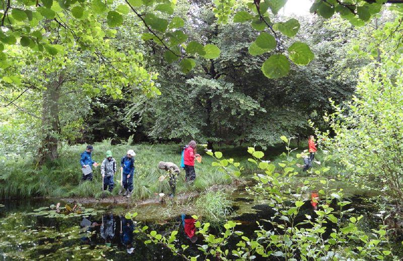 Natur- und Umweltbildung in Baden, Kinder am Teich