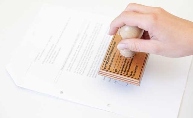 Beglaubigung Unterschriften und Fotokopien Stadt Baden - Stempel zur Beglaubigung von Dokumenten